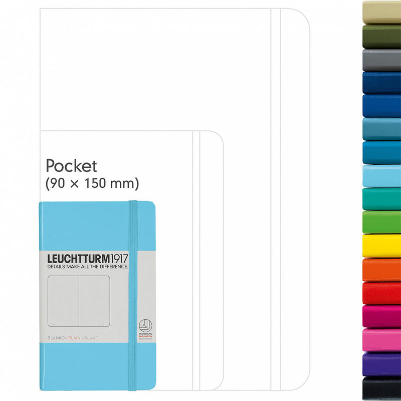 Leuchtturm1917 Pocket A6 Hard Cover Plain Notebook