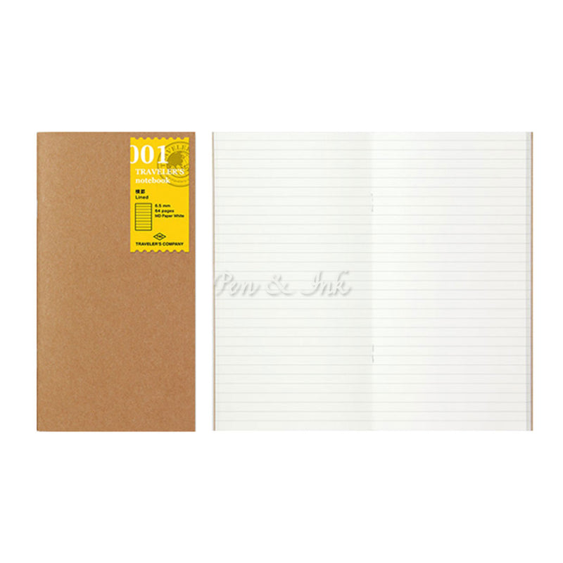 Midori Traveler's Company Traveler's Notebook Refill Regular Size 001 Lined