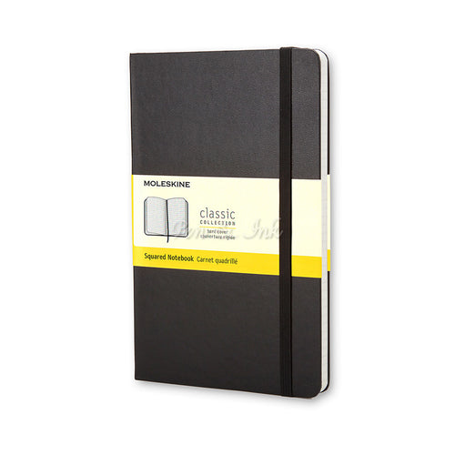 Moleskine Classic Hard Cover Large Squared Black Notebook