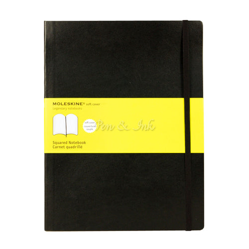 Moleskine Classic Soft Cover Extra Large Squared Black Notebook