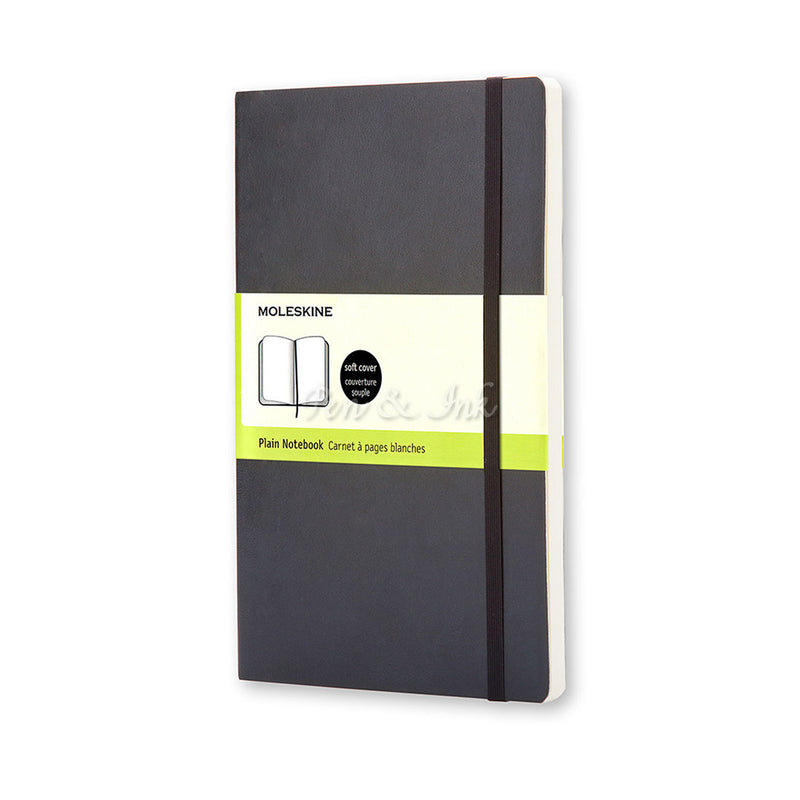 Moleskine Classic Soft Cover Large Plain Black Notebook
