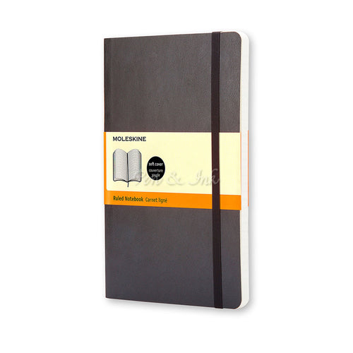 Moleskine Classic Soft Cover Large Ruled Black Notebook