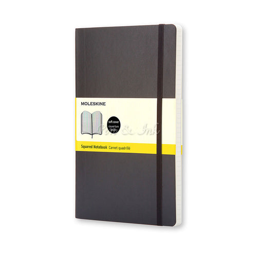 Moleskine Classic Soft Cover Large Squared Black Notebook