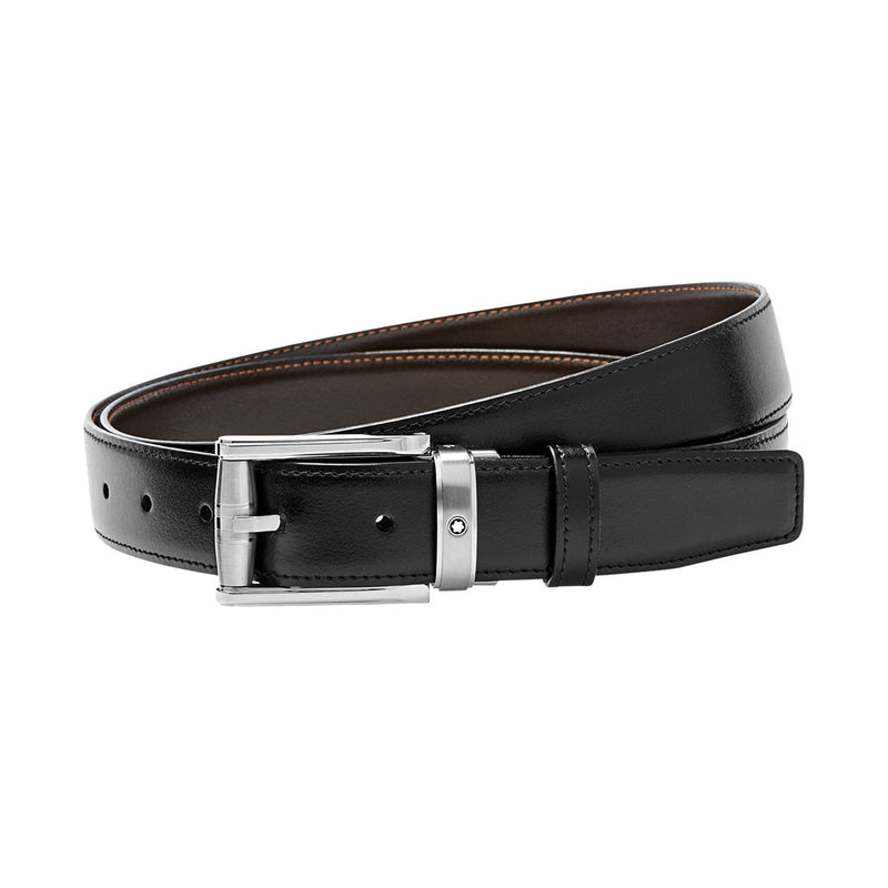 Montblanc Contemporary Rectangular Pin Buckle Reversible Belt