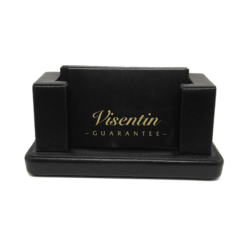 Visentin Leather Desk Business Card Holder