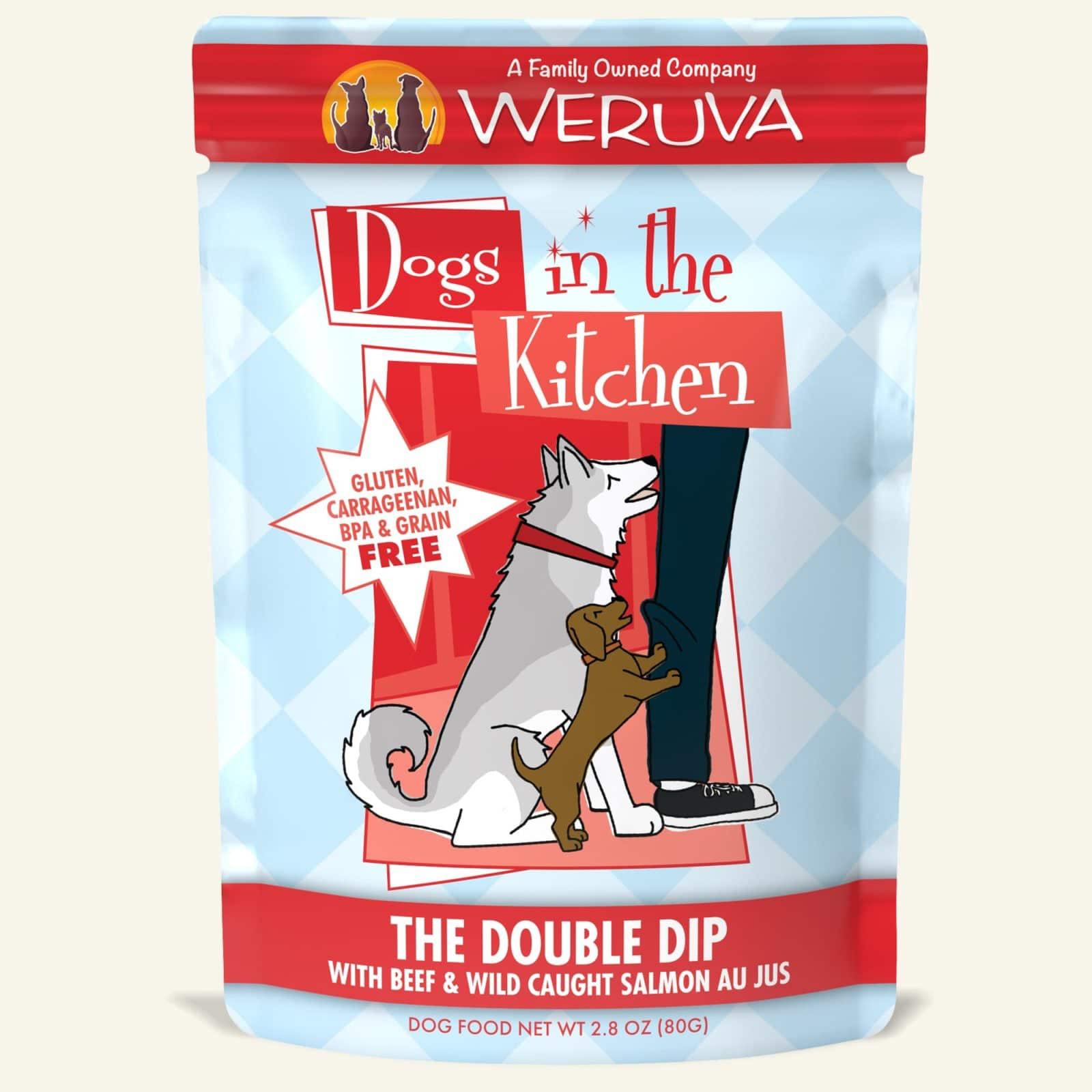 Weruva Dogs in the Kitchen The Double Dip Beef and Salmon Dog Food