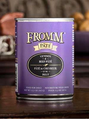 Fromm 12oz Venison & Beef Pate Dog Canned Food