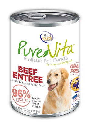 Pure Vita Beef Entree Canned Dog food 13oz