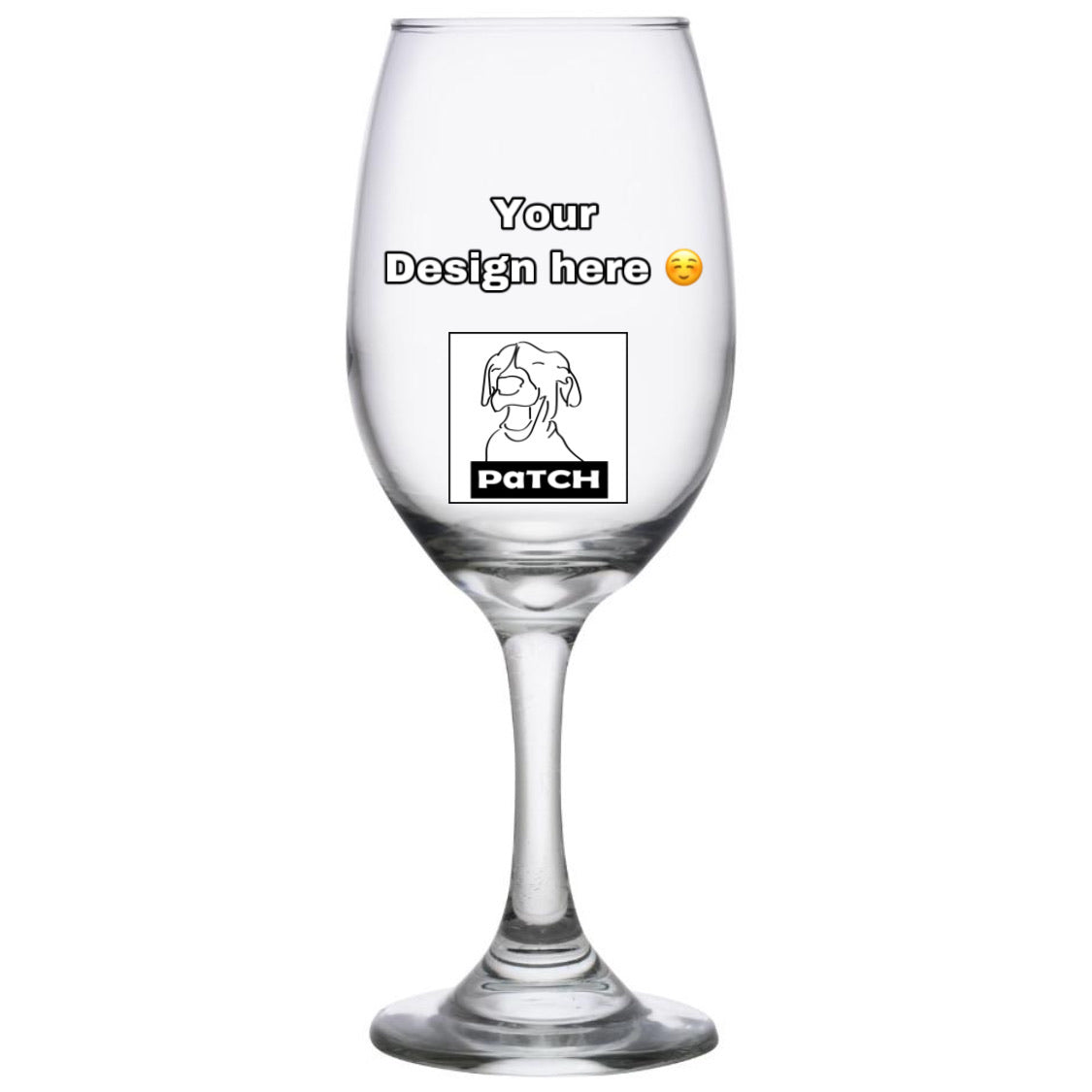 Dog Patch Custom 13 oz Wine Glasses