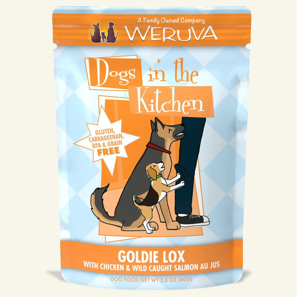 Weruva Dogs in the Kitchen Goldie Lox Chicken and Wild Caught Salmon
