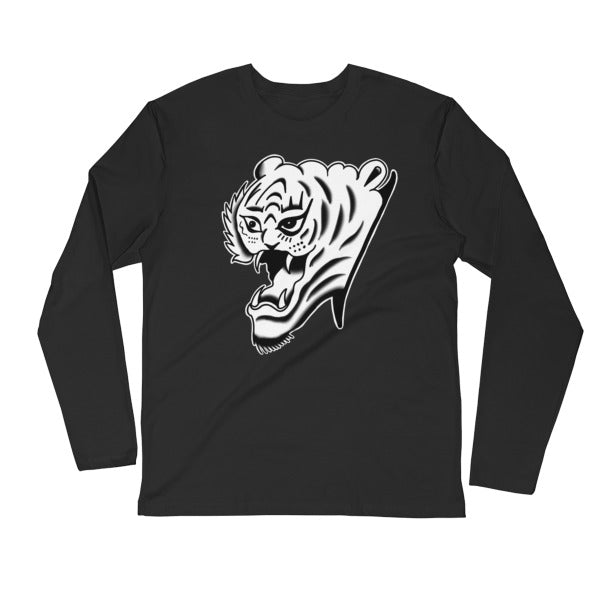 Sucky Tiger Long Sleeve Fitted Premium Crew