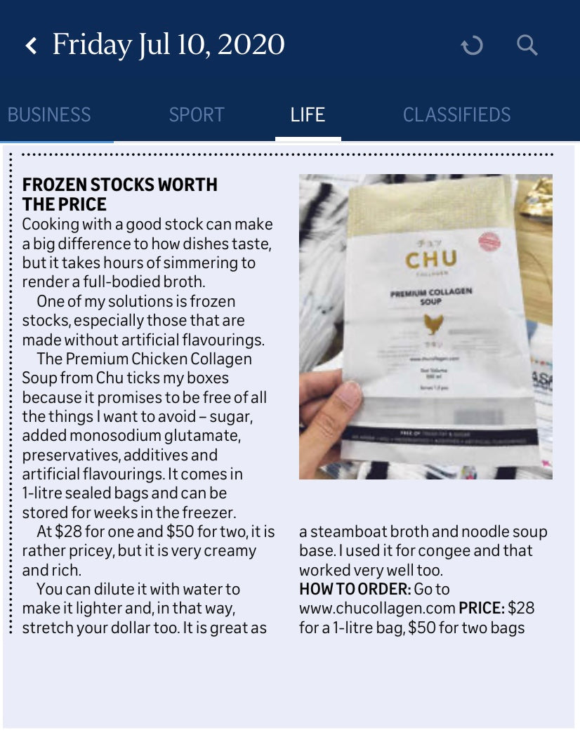 The Straits Times Life Review - CHU Collagen