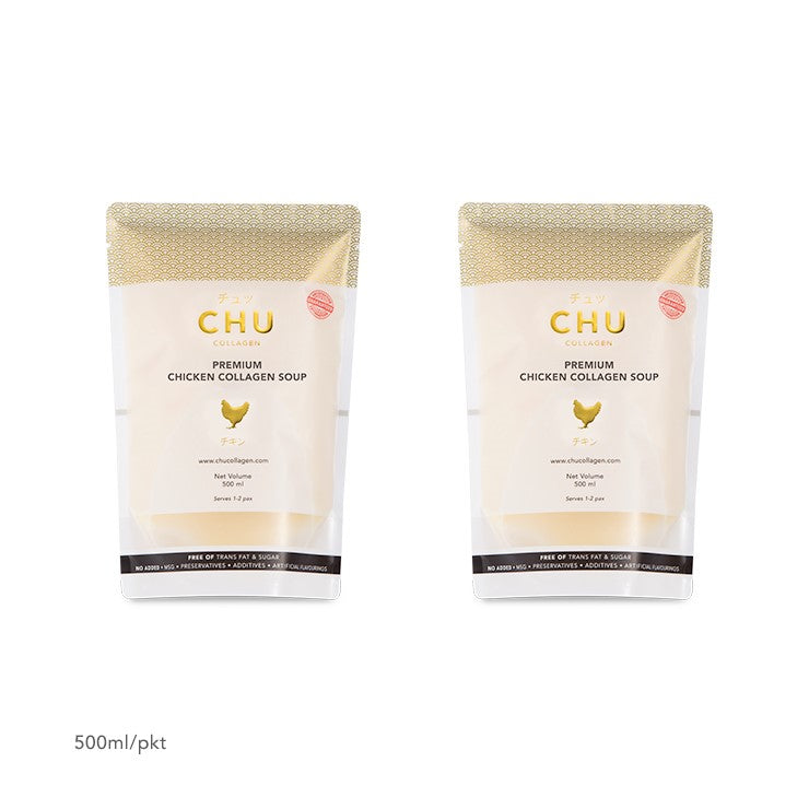CHU Chicken Collagen Soup Packaging 1-Litre (2x500ml)