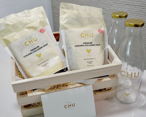Gift Set with glass bottles - CHU Collagen