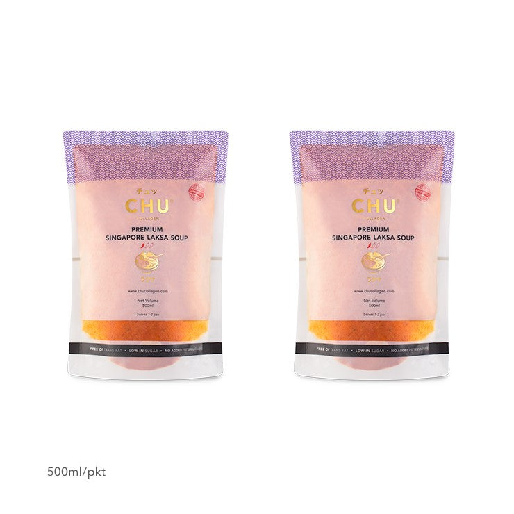 CHU Laksa Soup Packaging 1-Litre (2x500ml)