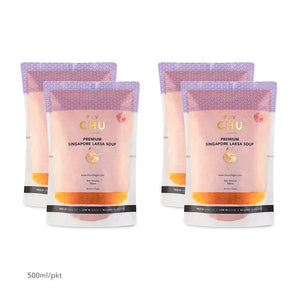 CHU Laksa Soup Packaging 2-Litre Bundle (4x500ml)