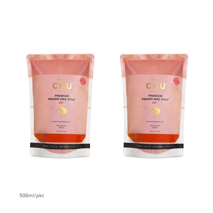 CHU Prawn Mee Soup Packaging 1-Litre (2x500ml)