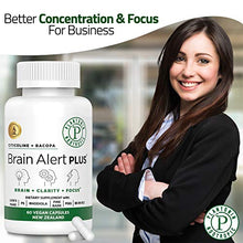 Load image into Gallery viewer, Plantonin Brain Support (60 Capsules)-Brain Supplement for Focus, Energy, Memory and Clarity-Brain Health for Students & Seniors Alike-Citicoline, Bacopa, Lion's Mane, B6-9-12-Nootropics Booster-Vegan