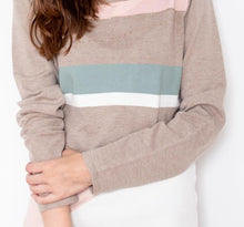 Load image into Gallery viewer, Pastel Color-Block Sweater