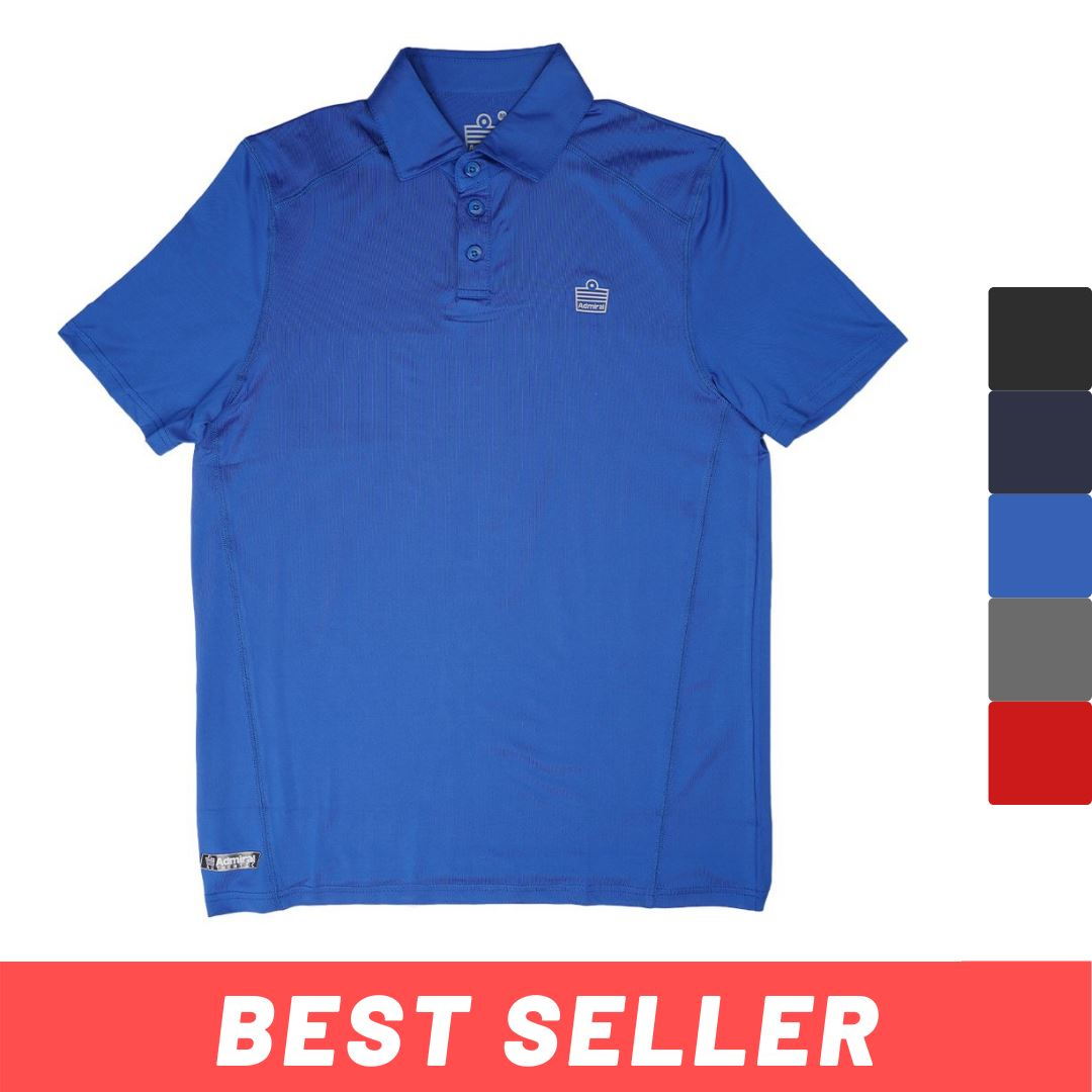 Admiral Men's Performance Polo Shirt - Plain - Kasut Marketplace