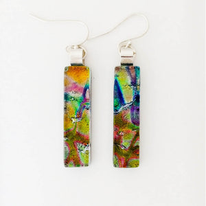Dichroic Glass Earrings T63 ONLINE SPECIAL PRICE