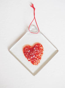 Glass Love Heart H10