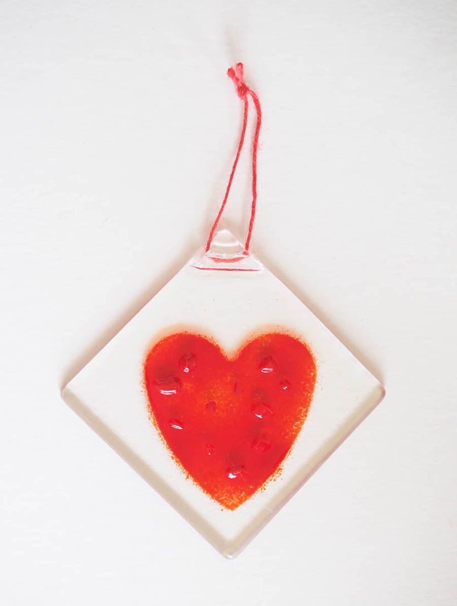 Glass Love Heart H12