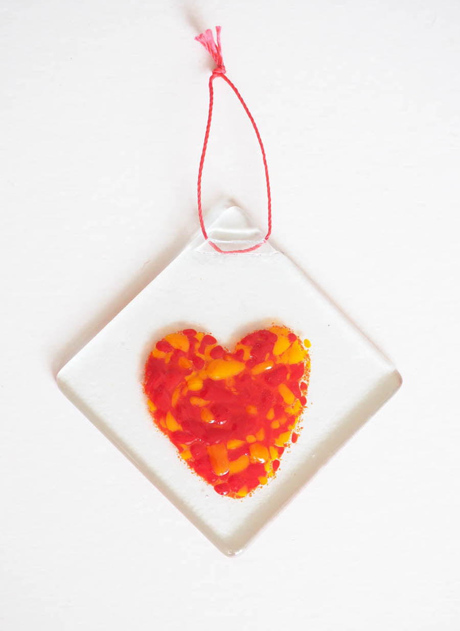Glass Love Heart H9
