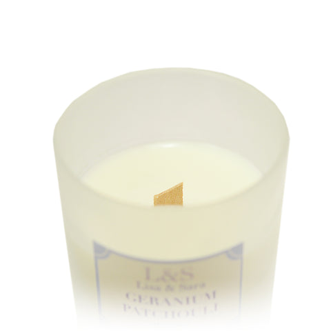 Geranium & Patchouli Soy Wax Candle by Lisa & Sara