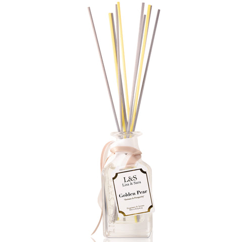 """Fortune and Prosperity"" - Golden Pear Reed Diffuser"
