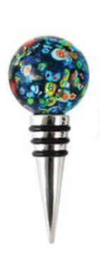 Black Confetti Glass Bottle Stopper