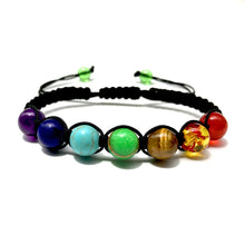Load image into Gallery viewer, Seven Chakra Adjustable Rope Bracelet