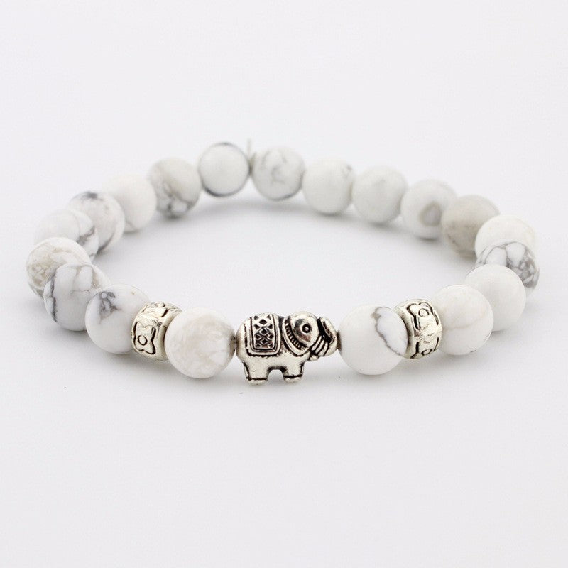 Natural Stone Buddhist Elephant Bracelet