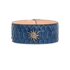 Blue Jean Austin Cuff with Diamond Starburst - Julz by J. Markell Designs