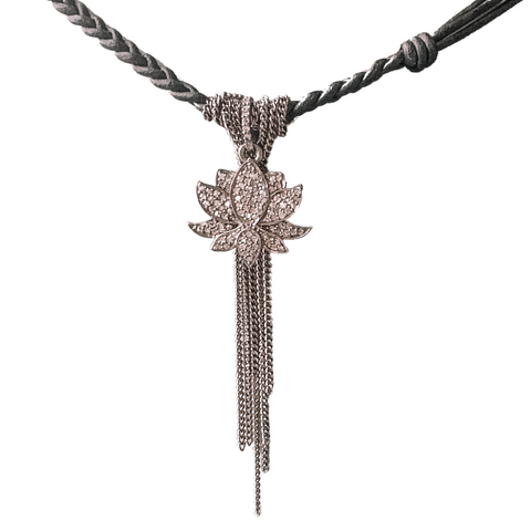 Diamond Lotus Laila Necklace - Julz by J. Markell Designs