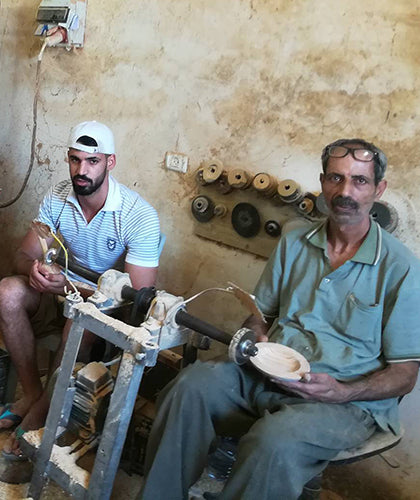 Handmade Fair Trade Olive Wood Products by Artisan Simon Sway for Holy Land Handicraft Cooperative Society Palestine