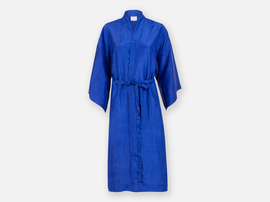 Bormey Silk Robe // blue