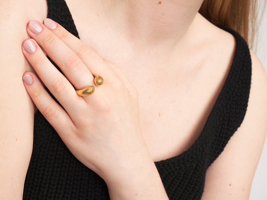 Fair Trade Chunky Open Ring Gold Ethical Jewellery