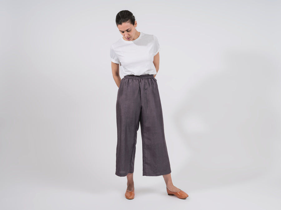 Chivy Silk Pants // Grey