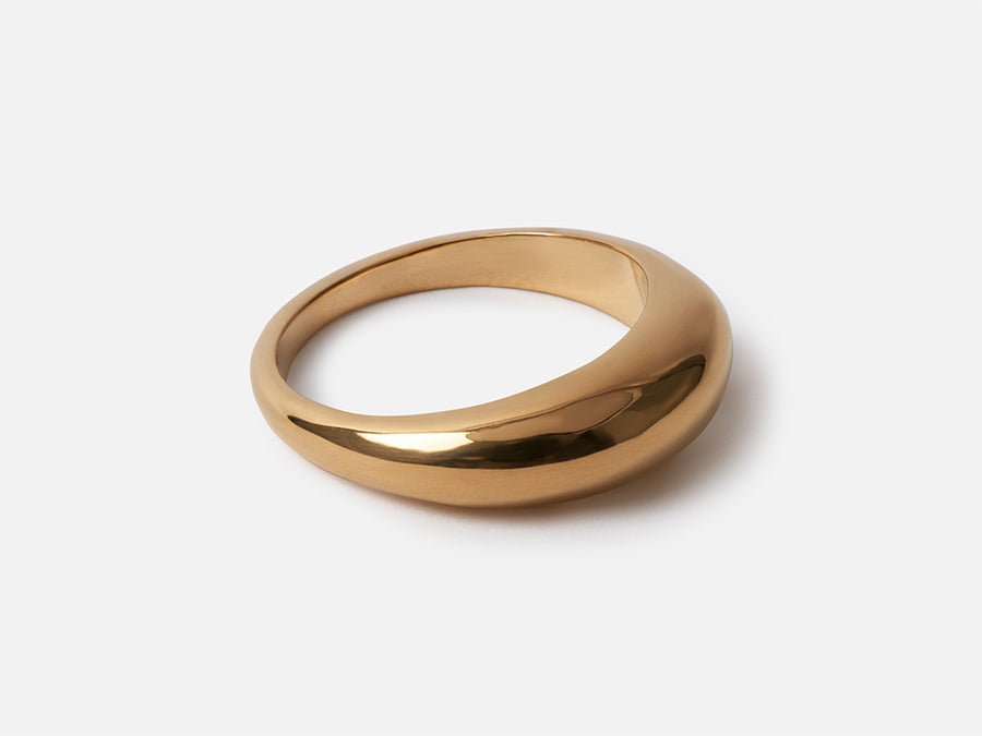 Fair Trade Chunky Stacking Ring Gold Ethical Jewellery