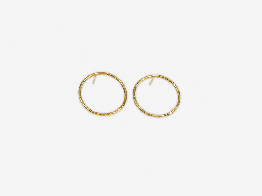 Earrings Hammered Circle