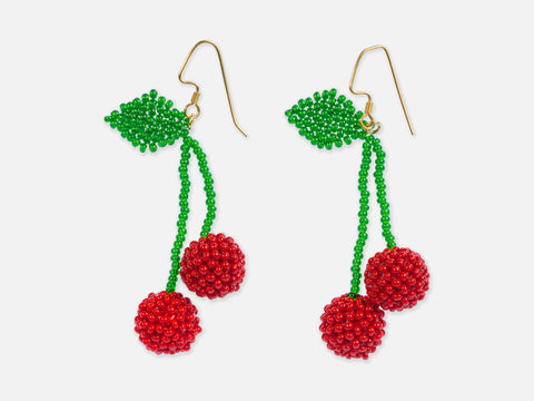 This is Jane Wayne Cherry Earrings // Inspired By  <br/> FOLKDAYS N° 373
