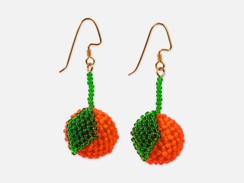 This is Jane Wayne Orange Earrings // Inspired By <br/> FOLKDAYS N° 374