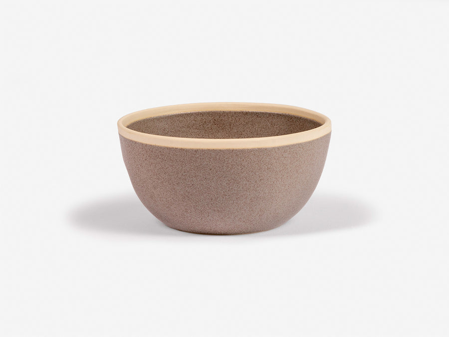 Bowl with White Rim // Grey </br> Small