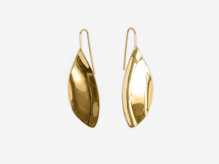 Earrings Leaf-Shaped