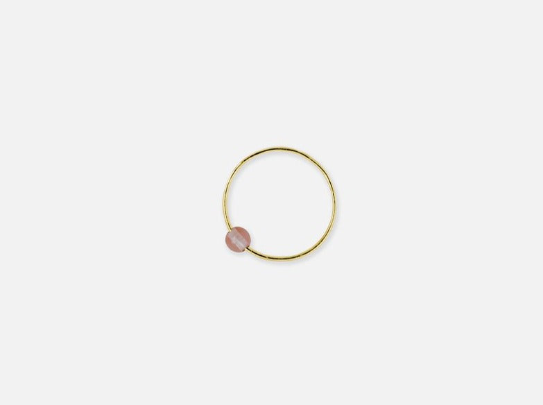 Liliana Ring // gold & rose quartz