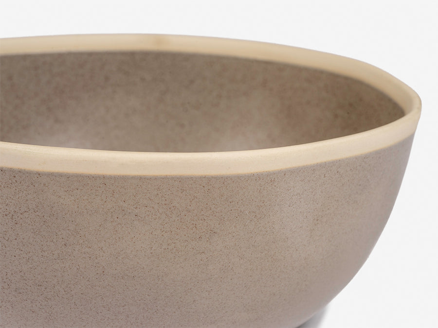Bowl with White Rim // Grey </br> Big