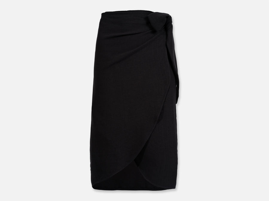 Mali Wrap Skirt // black