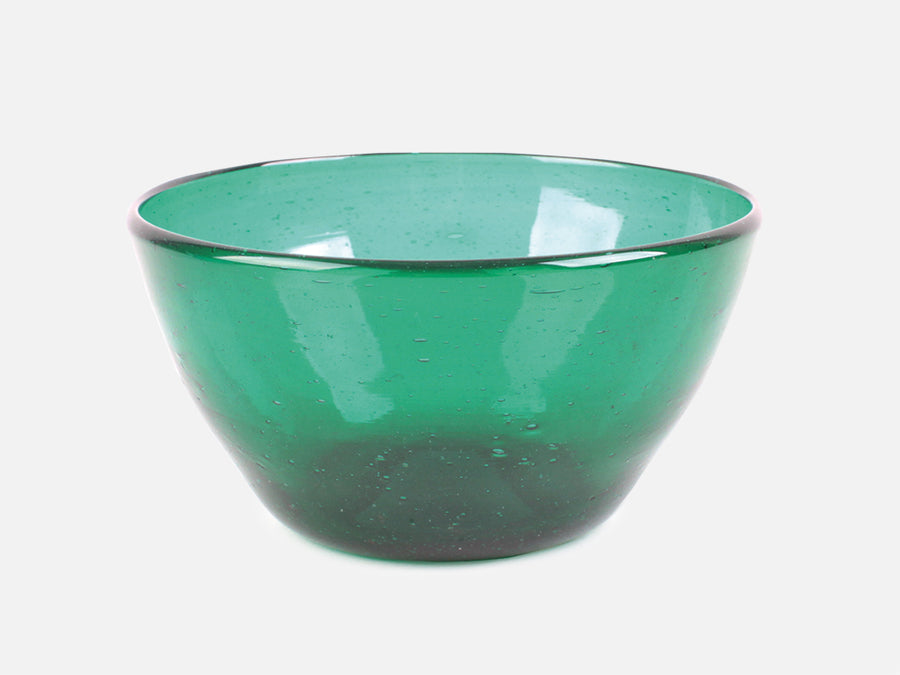 Glass Bowl // Green </br> Big