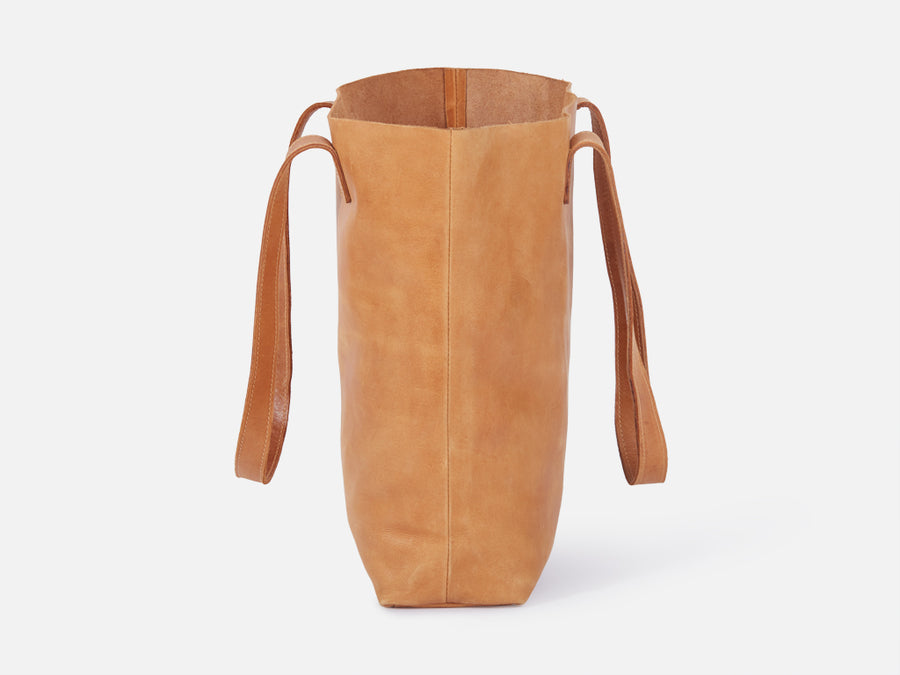 Leather Tote Bag // Camel